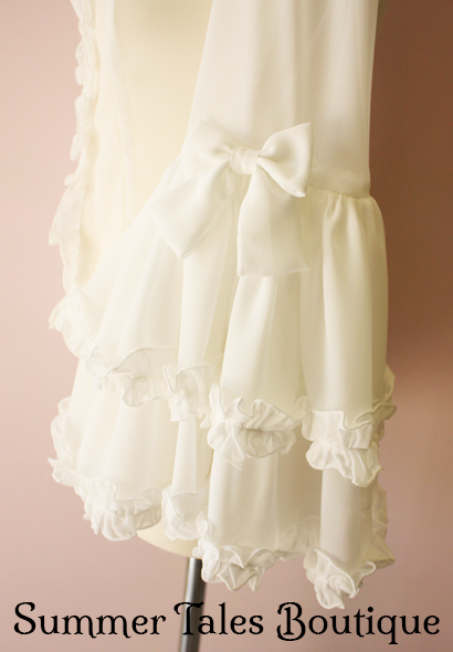Princess sleeve blouse offwhite sleeves