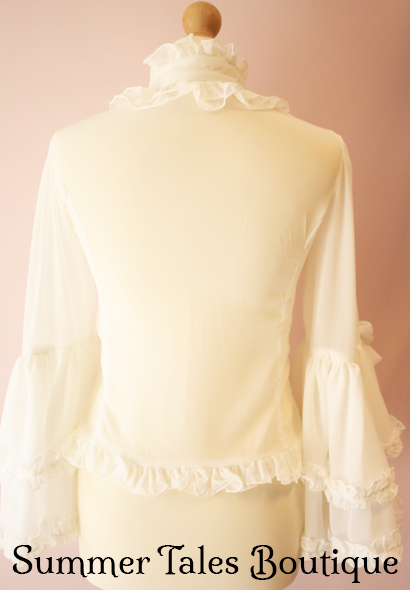 Princess sleeve blouse offwhite back