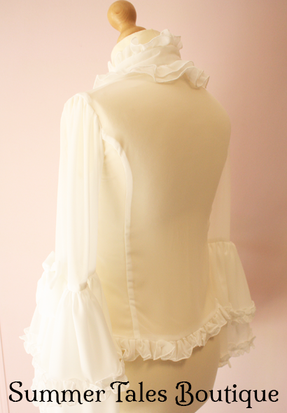 Princess sleeve blouse offwhite side back