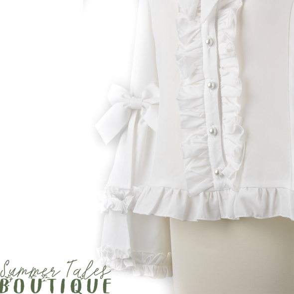 Princess sleeve blouse offwhite