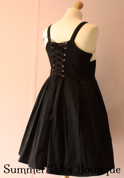 divine devotion jumperskirt back side with corset lacing and partial shirred