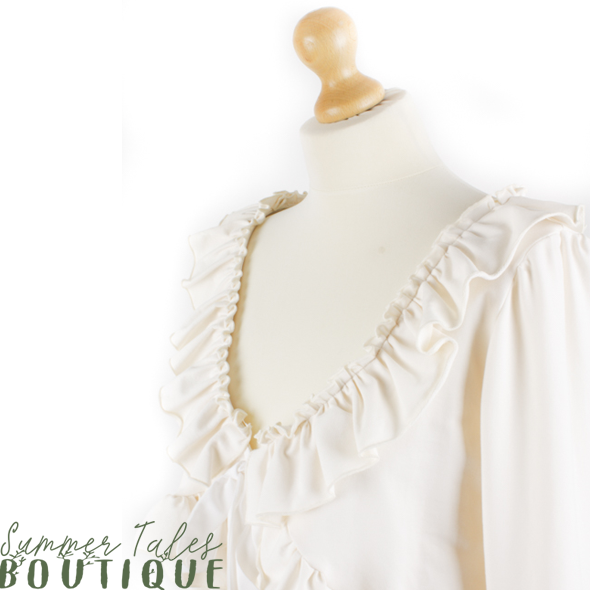 Long sleeve bolero beige