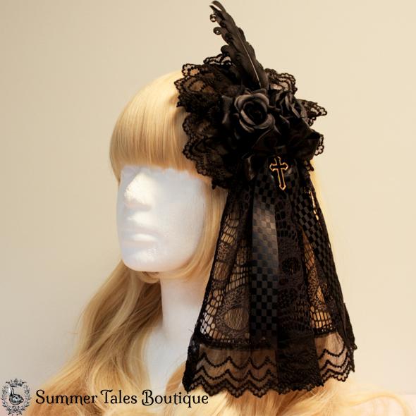 Skull Lace Luxurious Roundpiece Headdress