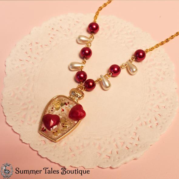 Valentines Bottled Tears Necklace