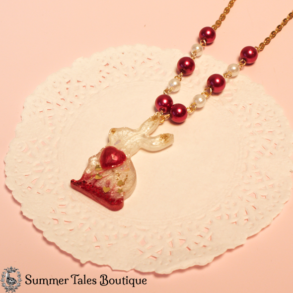 Valentine's Bunny Necklace