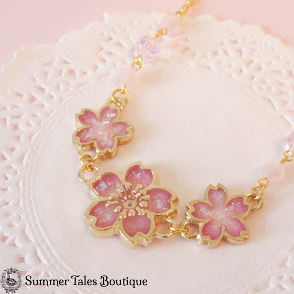 Spring Sakura Necklace