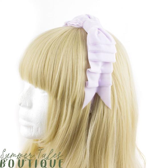 Velvet Folded Bow Lavender