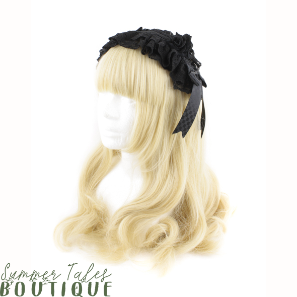 Dreamy Rose Headdress Black