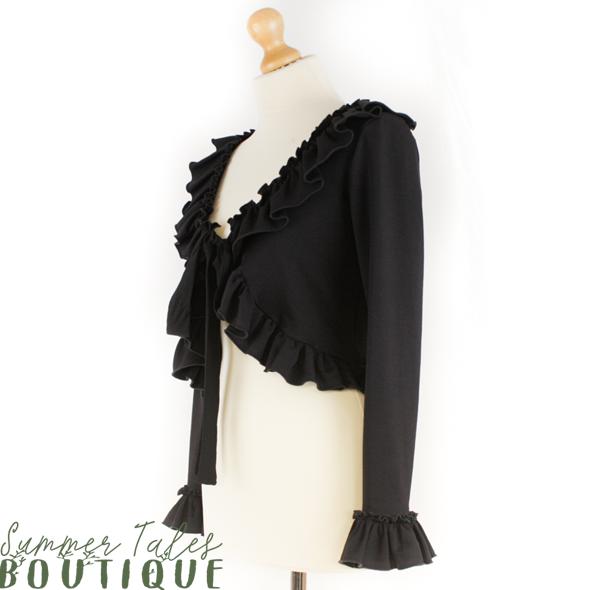 Long sleeve bolero black