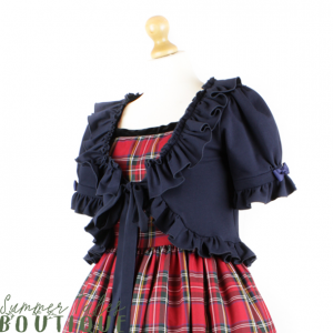 Short sleeve bolero navy