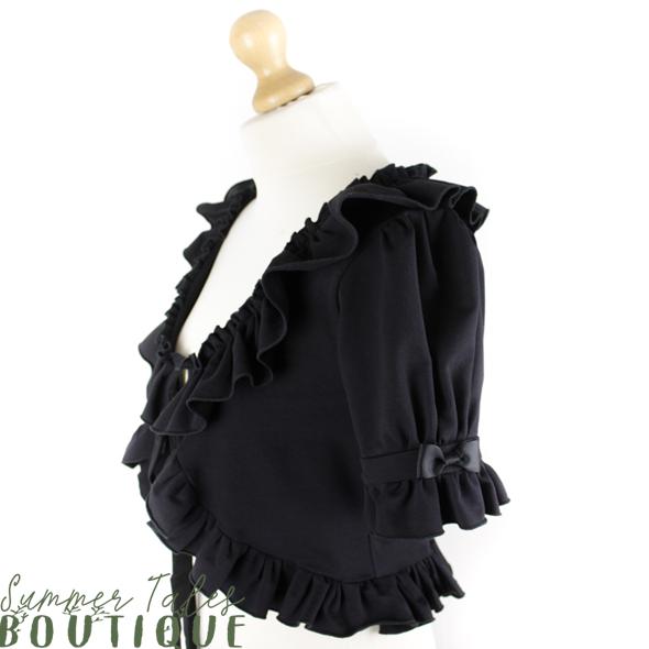 short sleeve bolero black