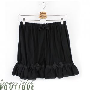 Long Chiffon Bloomers Black
