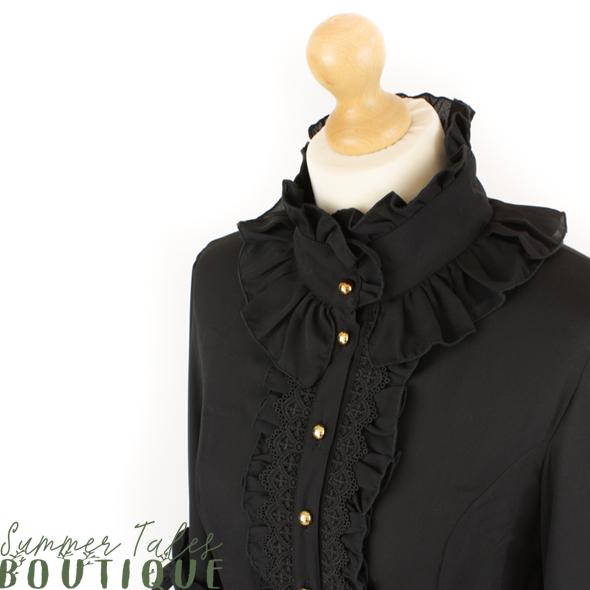 Princess sleeve blouse black