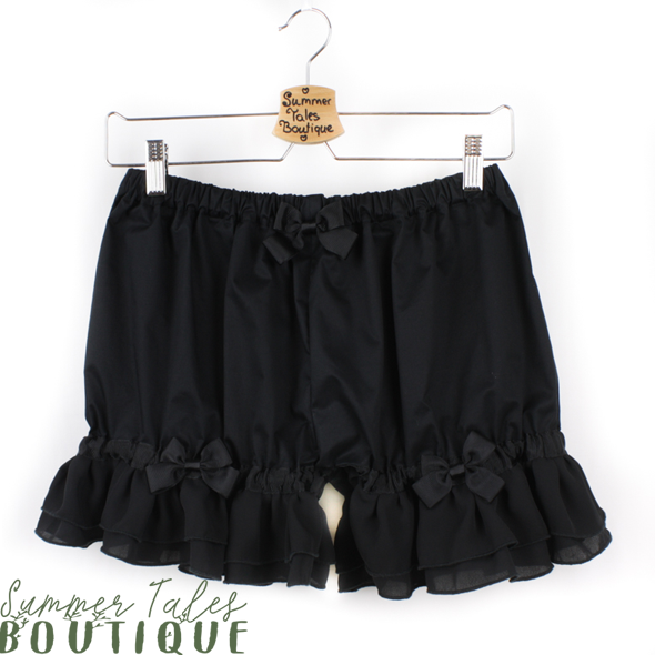 Short Chiffon Bloomers Black