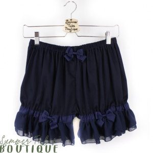 Short Chiffon Bloomers Navy
