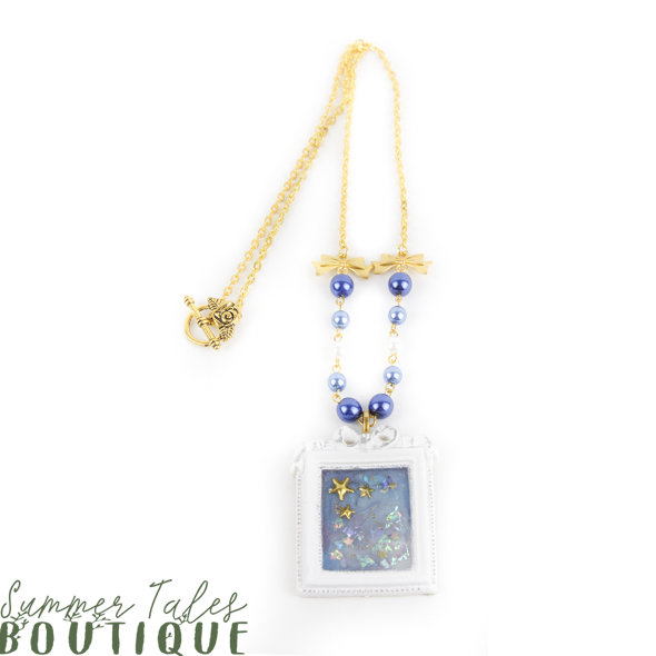Night Sky Frame Necklace