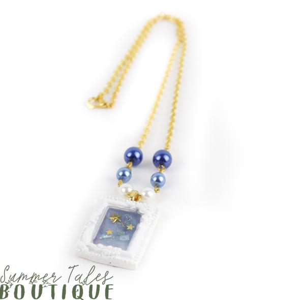 Night Sky Petit Frame Necklace