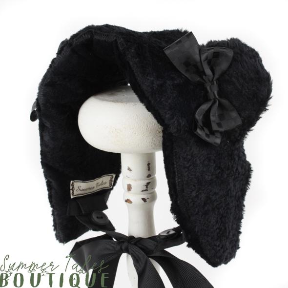 Dreamy Bearhat black fake fur