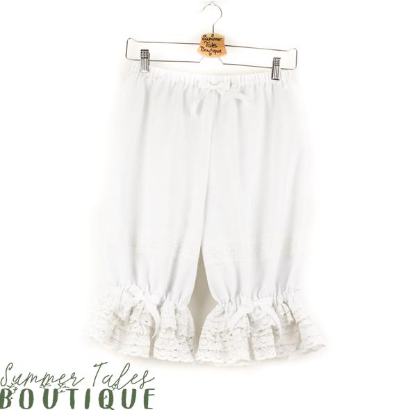 Nostalgia Linen Bloomers White