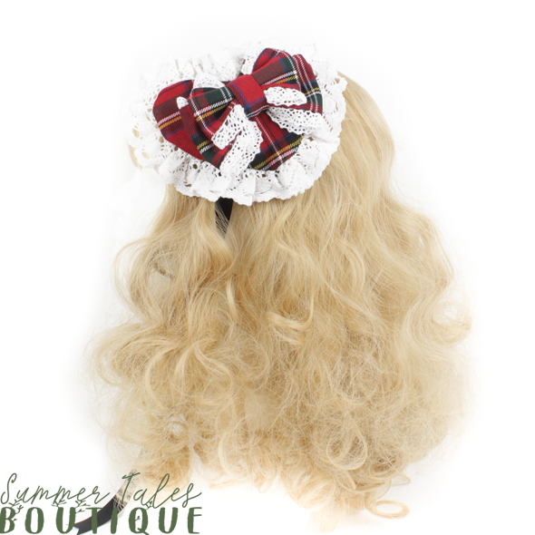 Nostalgia Heart Headdress white lace
