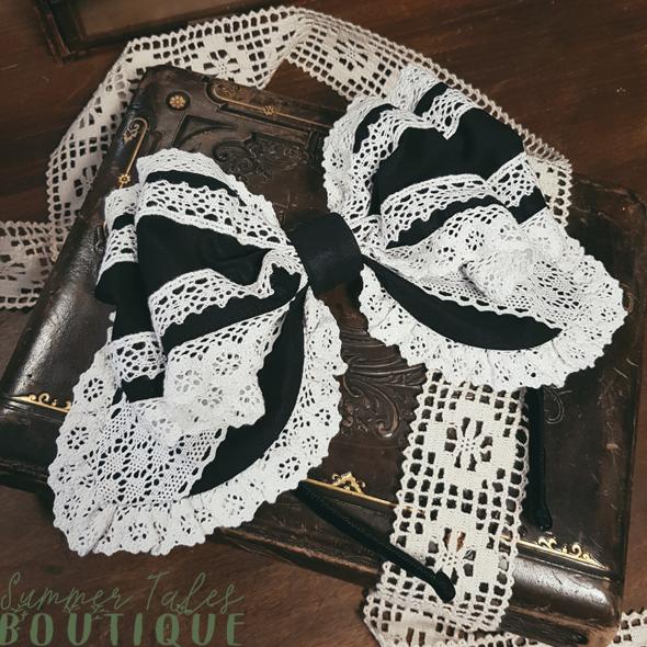 Nostalgia Headbow Organic Cotton white lace