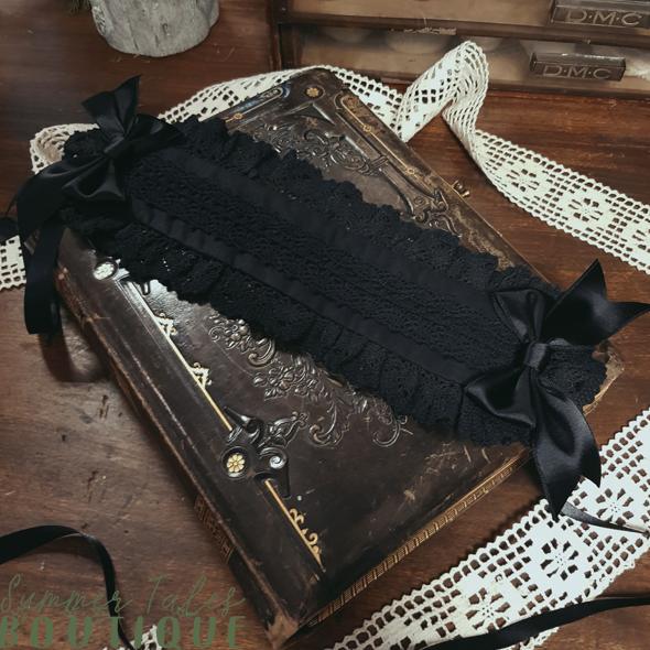 Nostalgia Headdress Organic Cotton black lace