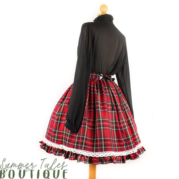 Nostalgia Royal Stewart Skirt white lace