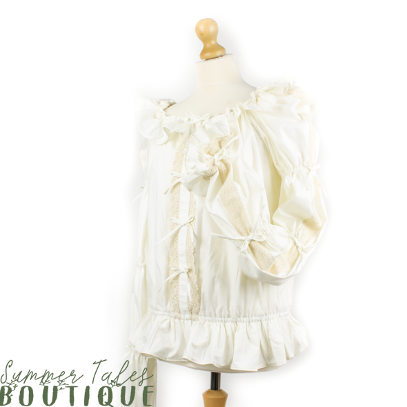 Florence blouse Beige The Ochard Collection