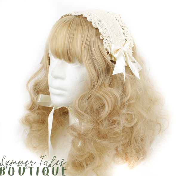 The Ochard Collection Headdress linen beige