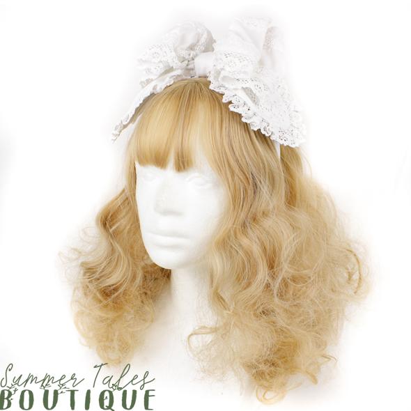Nostalgia Organic Cotton headbow in white